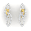 diamond studded gold jewellery - Jocelyne Earring Tops - Pristine Fire - 2