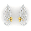 diamond studded gold jewellery - Elisa Earring Tops - Pristine Fire - 2