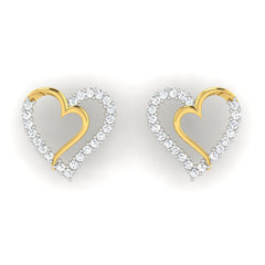 diamond studded gold jewellery - Libi Earring Tops - Pristine Fire - 2