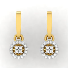 diamond studded gold jewellery - Liza Drops and Danglers Earrings - Pristine Fire - 2