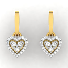 diamond studded gold jewellery - Lois Drops and Danglers Earrings - Pristine Fire - 2