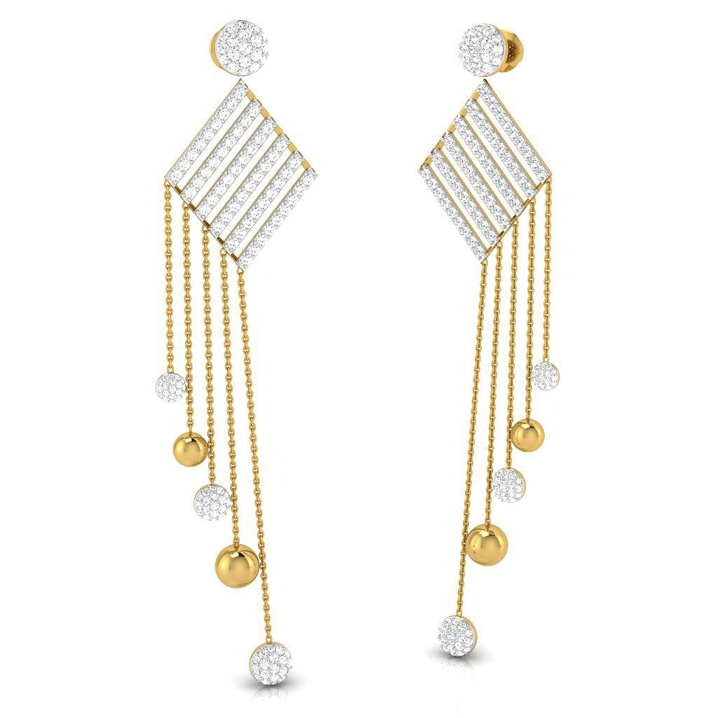 Nelu Long Earrings
