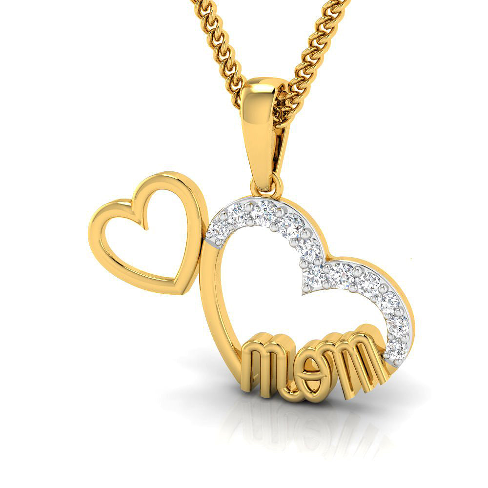 Heart Mommy Pendant