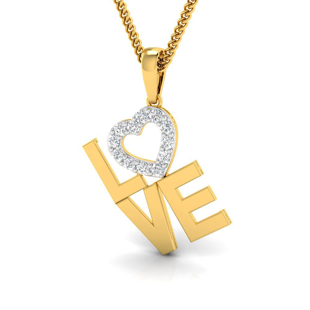 Diamond studded love mommy pendant in gold pristine fire love mommy pendant aloadofball Image collections
