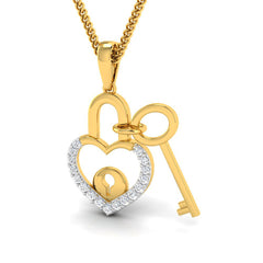Lock N Key Mommy Pendant