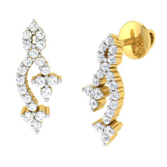 diamond studded gold jewellery - Maryam Earring Tops - Pristine Fire - 1