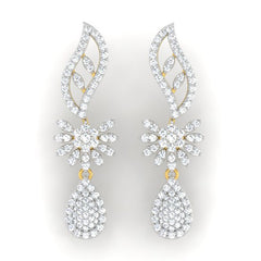 diamond studded gold jewellery - Anita Classic Earring - Pristine Fire - 2