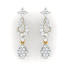 diamond studded gold jewellery - Áine Dangler Earring - Pristine Fire - 2