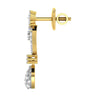 diamond studded gold jewellery - Áine Dangler Earring - Pristine Fire - 3