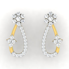 diamond studded gold jewellery - Gabrijela Earring Tops - Pristine Fire - 2