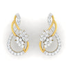 diamond studded gold jewellery - Veronika Earring Tops - Pristine Fire - 2