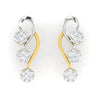 diamond studded gold jewellery - Josefina Earring Tops - Pristine Fire - 2