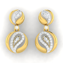 diamond studded gold jewellery - Adama	 Dangler Earring - Pristine Fire - 2