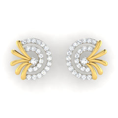 diamond studded gold jewellery - Adana	 Earring Tops - Pristine Fire - 2