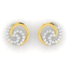 diamond studded gold jewellery - Adela	 Earring Tops - Pristine Fire - 2