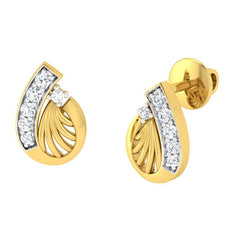 diamond studded gold jewellery - Adena	 Earring Tops - Pristine Fire - 1