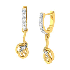 diamond studded gold jewellery - Adora	 Bali Earring - Pristine Fire - 1
