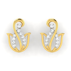 diamond studded gold jewellery - Ailen	 Earring Tops - Pristine Fire - 2