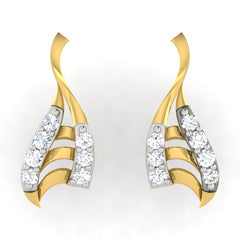 diamond studded gold jewellery - Alaia	 Earring Tops - Pristine Fire - 2
