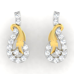 diamond studded gold jewellery - Alexe	 Earring Tops - Pristine Fire - 2