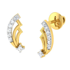diamond studded gold jewellery - Amita	 Earring Tops - Pristine Fire - 1