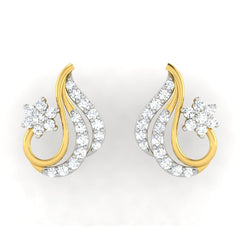 diamond studded gold jewellery - Anaya	 Earring Tops - Pristine Fire - 2