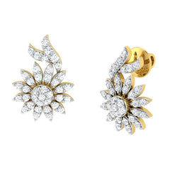 diamond studded gold jewellery - Anisa	 Earring Tops - Pristine Fire - 1