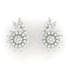 diamond studded gold jewellery - Anisa	 Earring Tops - Pristine Fire - 2