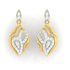 diamond studded gold jewellery - Annie	 Dangler Earring - Pristine Fire - 2
