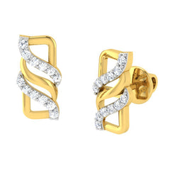 diamond studded gold jewellery - Avril	 Earring Tops - Pristine Fire - 1