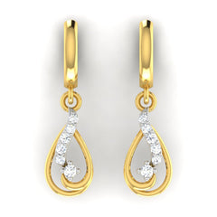 diamond studded gold jewellery - Beryl Bali Earring - Pristine Fire - 2
