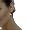 diamond studded gold jewellery - Kimiko Dangler Earring - Pristine Fire - 4