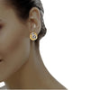 diamond studded gold jewellery - Sondra Earring Tops - Pristine Fire - 4