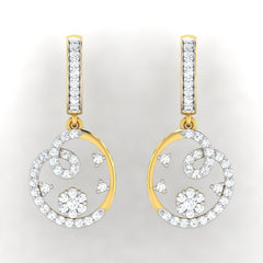 diamond studded gold jewellery - Roshni Bali Earring - Pristine Fire - 2