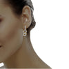 diamond studded gold jewellery - Danna Bali Earring - Pristine Fire - 4
