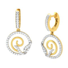 diamond studded gold jewellery - Amarilla Bali Earring - Pristine Fire - 1