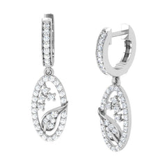 diamond studded gold jewellery - Azucena Bali Earring - Pristine Fire - 1