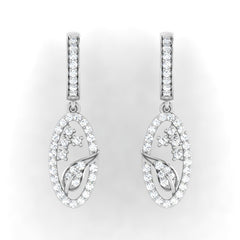 diamond studded gold jewellery - Azucena Bali Earring - Pristine Fire - 2
