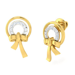 diamond studded gold jewellery - Alfonsa Earring Tops - Pristine Fire - 1