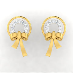 diamond studded gold jewellery - Alfonsa Earring Tops - Pristine Fire - 2