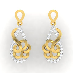 diamond studded gold jewellery - Renae Dangler Earring - Pristine Fire - 2