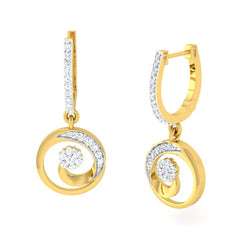 diamond studded gold jewellery - Elisheva Bali Earring - Pristine Fire - 1