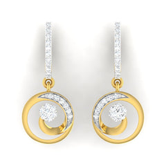diamond studded gold jewellery - Elisheva Bali Earring - Pristine Fire - 2