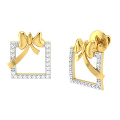 diamond studded gold jewellery - Nephthys Studs and Tops Earrings - Pristine Fire - 1