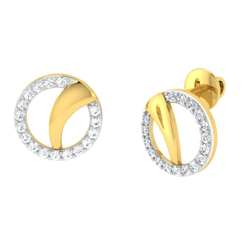 diamond studded gold jewellery - Chung-Ae Studs and Tops Earrings - Pristine Fire - 1