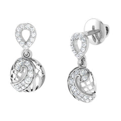 diamond studded gold jewellery - Melani Drops and Danglers Earrings - Pristine Fire - 1