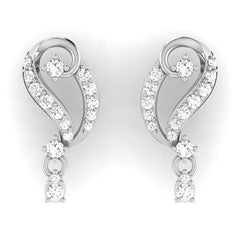 diamond studded gold jewellery - Ana Drops and Danglers Earrings - Pristine Fire - 2