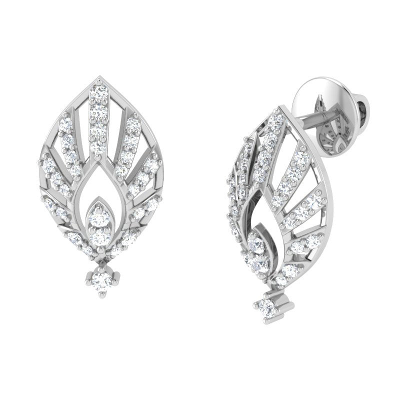 diamond studded gold jewellery - Mae Studs and Tops Earrings - Pristine Fire - 1