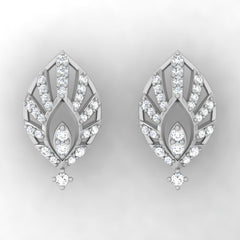 diamond studded gold jewellery - Mae Studs and Tops Earrings - Pristine Fire - 2