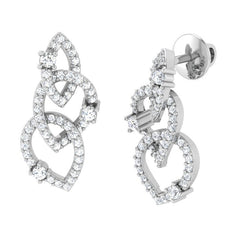diamond studded gold jewellery - Pia Studs and Tops Earrings - Pristine Fire - 1